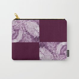 Season of the Square - Magenta Check Carry-All Pouch