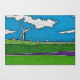 Windmill by Mali Vargas Canvas Print