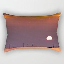 morning fishing Rectangular Pillow