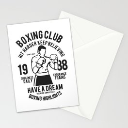 boxing club Stationery Cards