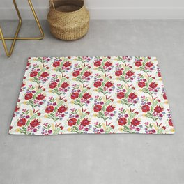 Hungarian Folk Design Red Peppers Rug