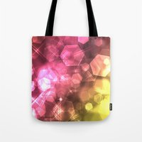 bokeh Tote Bags featuring Bokeh by Jason Michael