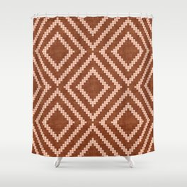 Loom in Rust Shower Curtain