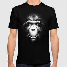 Monkee with Tooth Black Mens Fitted Tee LARGE