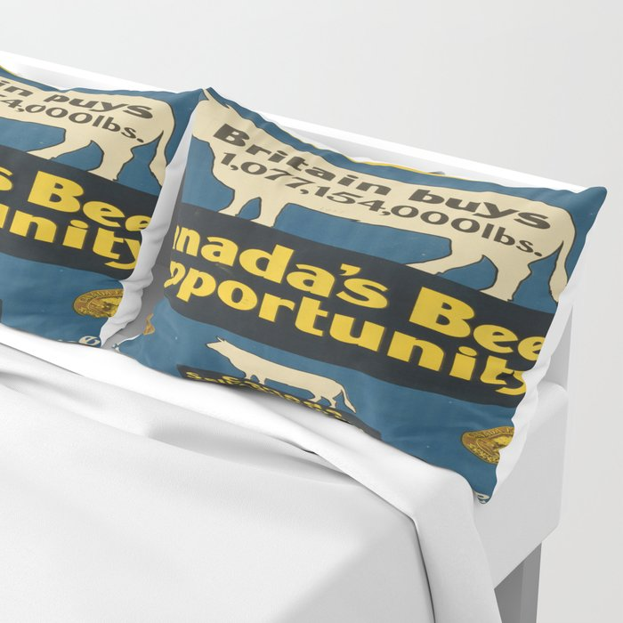 Vintage poster - Canada's Beef Opportunity Pillow Sham