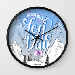 Leg Day Wall Clock