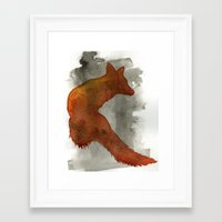robert farkas Framed Art Prints featuring Ode to Robert Farkas by Brown Paper Bunny