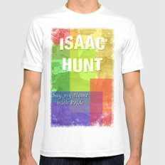 Isaac MEDIUM White Mens Fitted Tee