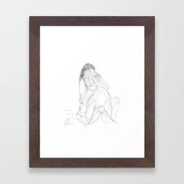 Snooze more often Framed Art Print