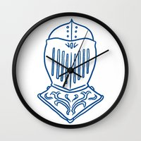 knight Wall Clocks featuring Knight by taichi_k