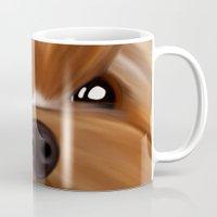 yorkie Mugs featuring Yorkie face by Mario Laliberte