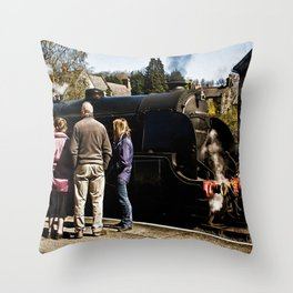 The Train Now Standing Throw Pillow