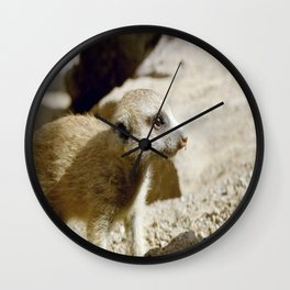 Baby in profile Wall Clock