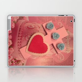 pink cross Laptop & iPad Skin