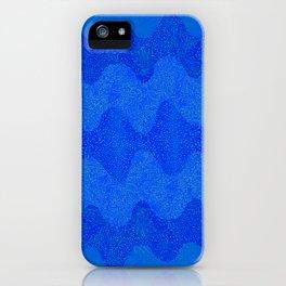Under the Influence (Marimekko Curves) Feeling Blue iPhone Case