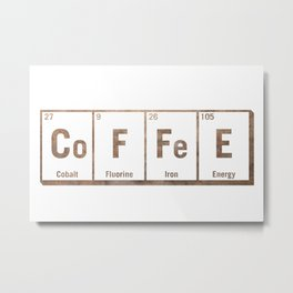 Natural coffee science periodic table Metal Print