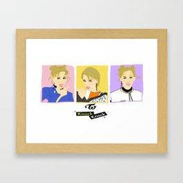 Knock Knock! Jungyeon Version Framed Art Print