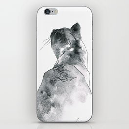 Cat at the Windowsill iPhone Skin