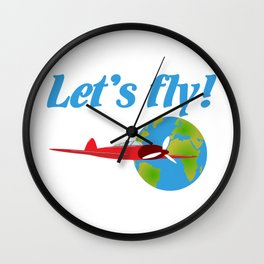 Let's fly Wall Clock