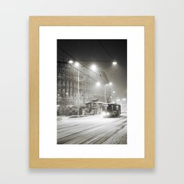 It's snowing Framed Art Print