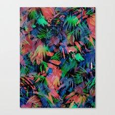 Palmtastic Black Canvas Print