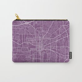 Tallahassee Map, USA - Purple Carry-All Pouch