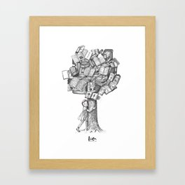 Thank you Grandpa for air, books and memories Framed Art Print