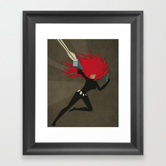 Paper Heroes - Black Widow2 Framed Art Print