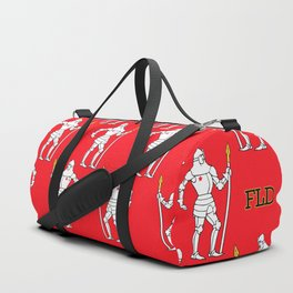 Knights On Red Duffle Bag