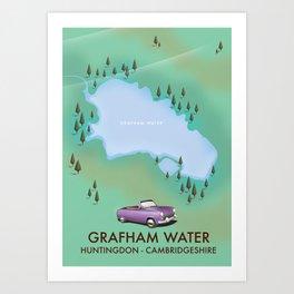Grafham water Cambridgeshire Art Print