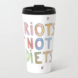 riots not diets  Travel Mug