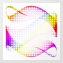 abstract colorful tamplate Art Print