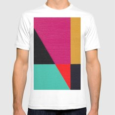 Red Triangle SMALL White Mens Fitted Tee