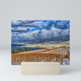 Okanagan Valley Winter Vineyard Mini Art Print