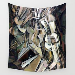 Marcel Duchamp Nude Descending a Staircase II Wall Tapestry