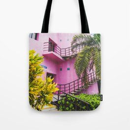 Pink and Palms in Cozumel Tote Bag