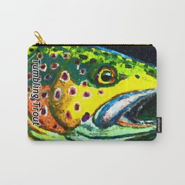 Tumbling Trout Logo - Trout Head Carry-All Pouch