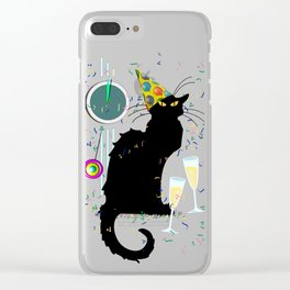 Chat Noir  Party Countdown Clear iPhone Case