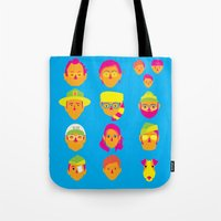 moonrise kingdom Tote Bags featuring Moonrise Kingdom by Brittany Metz