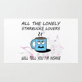 Misheard Song Lyrics-All the Lonely Starbucks Lovers Rug