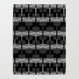 Squares in Black n White Poster
