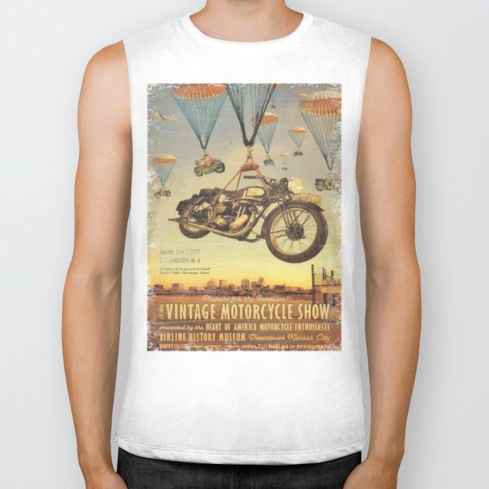 Vintage Motorcycle Show Poster Biker Tank