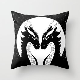 All eyes on you - dragon twins Throw Pillow