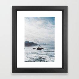 Mist Over Cannon Beach Framed Art Print