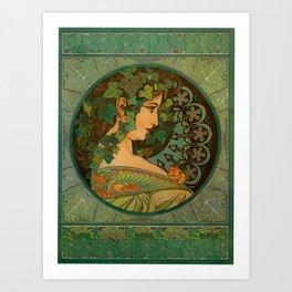 """Alphonse Mucha """"Ivy"""" Kunstdrucke"""