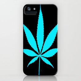 Weed : High Time Blue iPhone Case