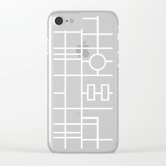 Map With Roundabout Clear iPhone Case