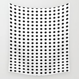 Black and white dots pattern Wall Tapestry