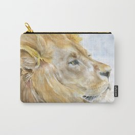 African Lion Watercolor Carry-All Pouch
