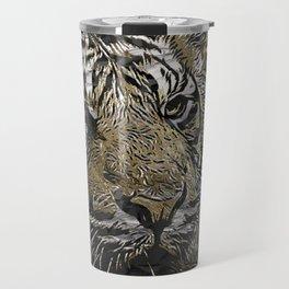 Tiger, Metal art Travel Mug
